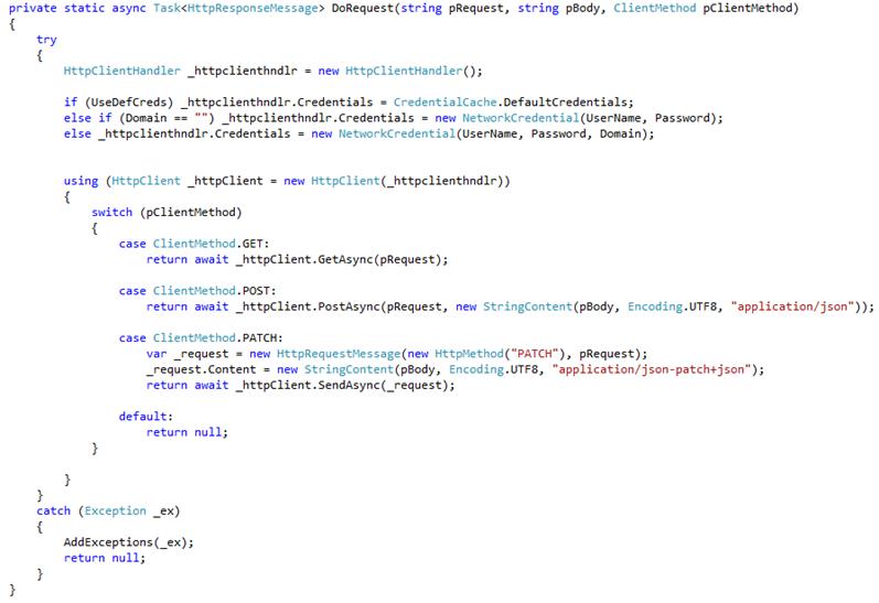 Использование TFS REST API на примере решения для учета времени